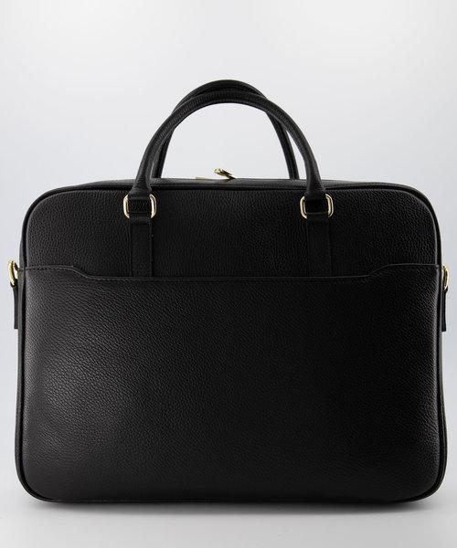 Hayden - Classic Grain - Laptoptassen - Zwart - D28 - Goudkleurig