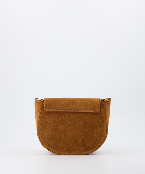 Christine - Suede - Crossbody bags - Brown - 6 - Gold