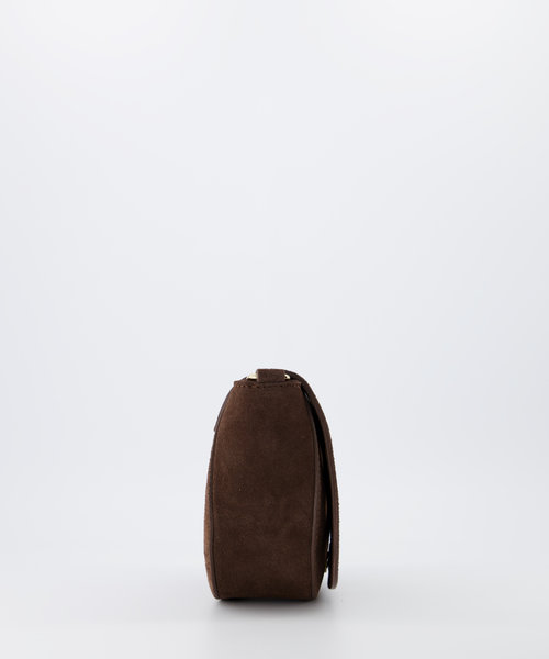 Christine - Suede - Crossbody bags - Brown - 9 - Gold