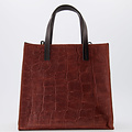 Natalie - Croco - Hand bags - Brown - 37 - Bronze
