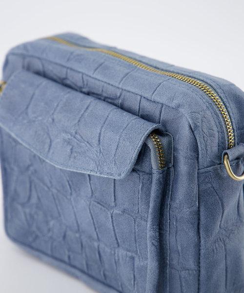 Miles - Croco - Crossbody bags - Blue - 48 - Gold