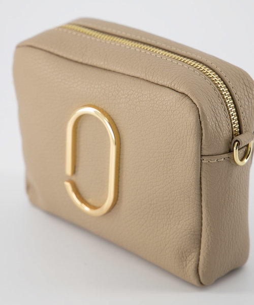 Jacine - Classic Grain - Crossbody bags - Taupe - D05 - Gold