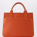 Amalia - Classic Grain - Hand bags - Orange - D29 - Gold