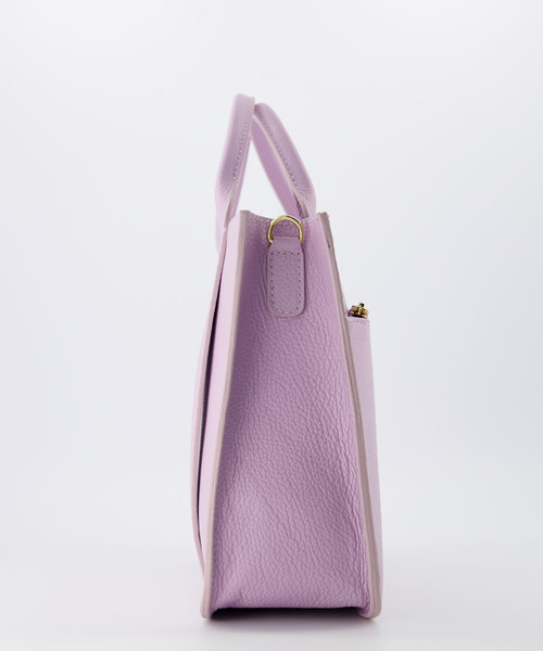 Amalia - Classic Grain - Hand bags - Purple - D55 - Gold