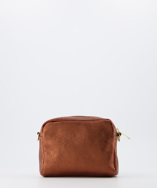 Jacine - Metallic - Crossbody bags - Brown - 14L - Gold