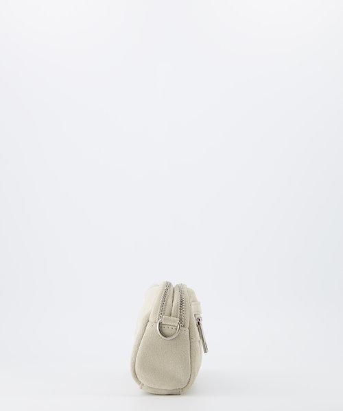 Teri - Suede - Crossbody bags - Beige - 2 - Silver