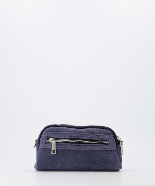 Teri - Suede - Crossbody bags - Blue - 31 - Silver