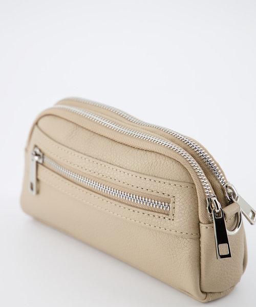 Teri - Classic Grain - Crossbody bags - Brown - D05 - Silver