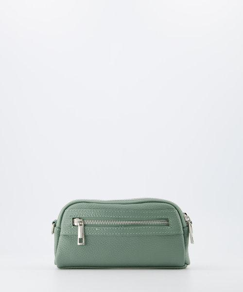 Teri - Classic Grain - Crossbody bags - Green - D96 - Silver