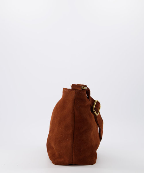 Karin - Suede - Crossbody bags - Brown - 37 - Bronze