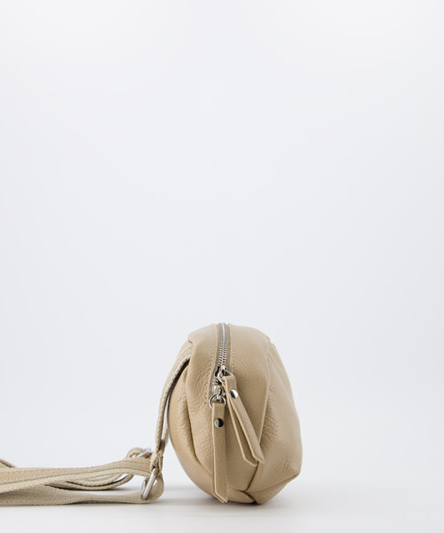 Ginny - Classic Grain - Crossbody bags - Taupe - D05 - Silver