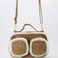 Teddy - Suede - Crossbody bags - Beige - 4 - Gold