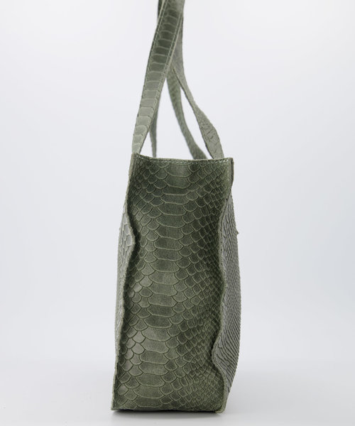 Patty - Suede - Handtassen - Seagrass - 6008 - Bronskleurig