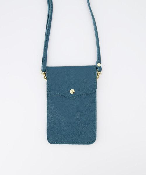 Pona - Classic Grain - Crossbody bags - Blue - D33 - Gold