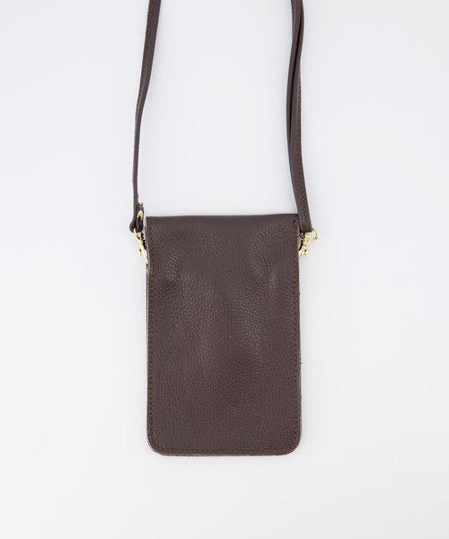 Pona - Classic Grain - Crossbody bags - Brown - D23 - Gold