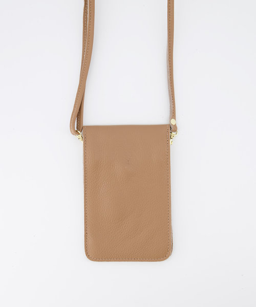Pona - Classic Grain - Crossbody bags - Brown - D85 - Gold