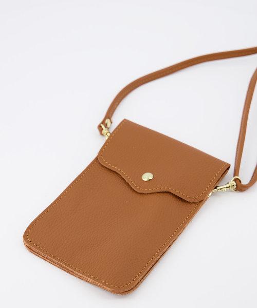Pona - Classic Grain - Crossbody bags - Brown - T01 - Gold