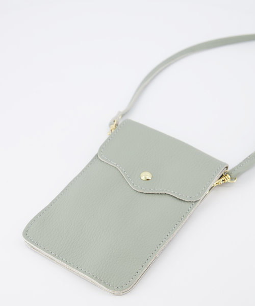 Pona - Classic Grain - Crossbody bags - Green - Seagrass T02 - Gold