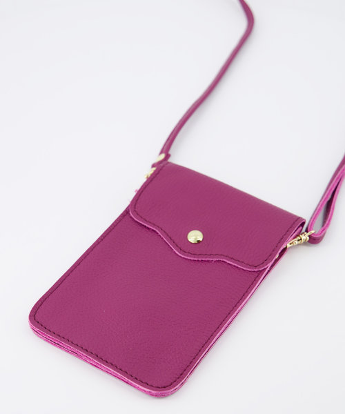 Pona - Classic Grain - Crossbody bags - Purple - D94 - Gold