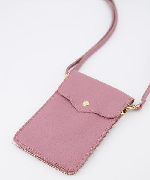 Pona - Classic Grain - Crossbody bags - Pink - D73 - Gold
