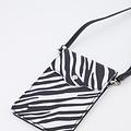 Pona - Classic Grain - Crossbody bags - White - Zebra - Silver