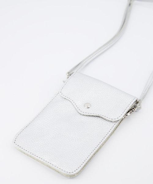 Pona - Classic Grain - Crossbody bags - Silver - Zilver - Silver