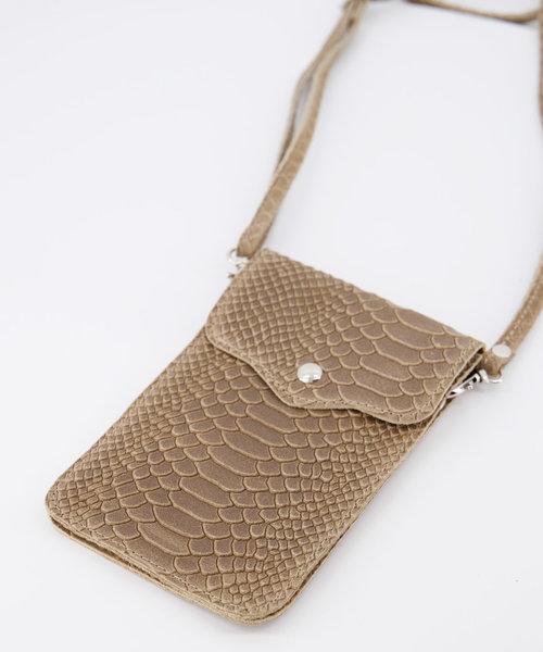 Pona - Snake - Crossbody bags - Beige - 4 - Gold