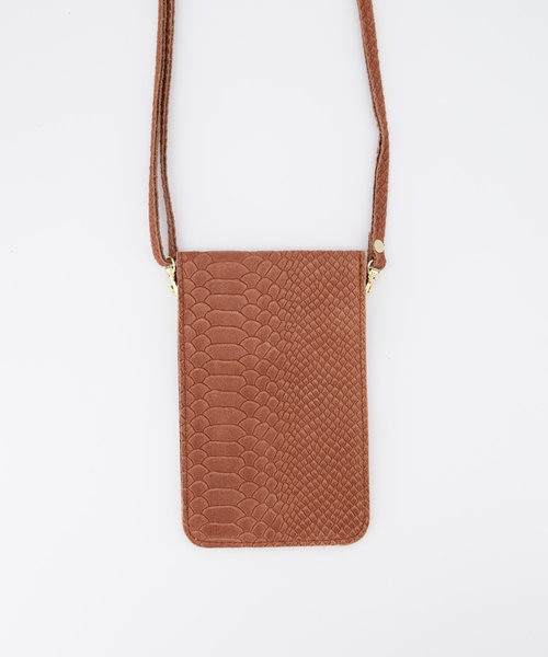 Pona - Snake - Crossbody bags - Pink - 62 - Gold