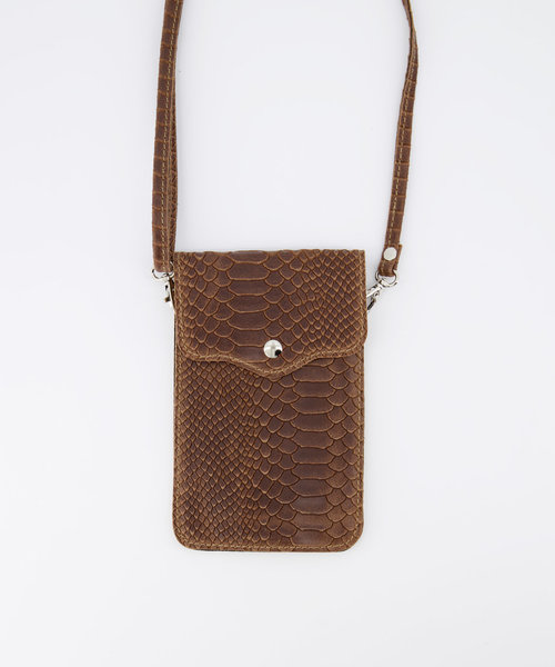 Pona - Snake - Crossbody bags - Taupe - 24 - Gold