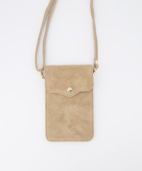 Nieuw Pona - Suede - Crossbody bags - Beige - 4 - Gold