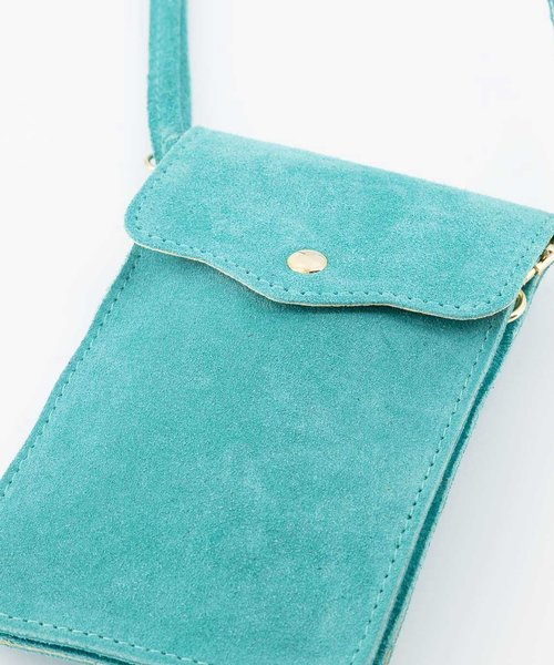 Pona - Suede - Crossbody bags - Blue - 10 - Gold
