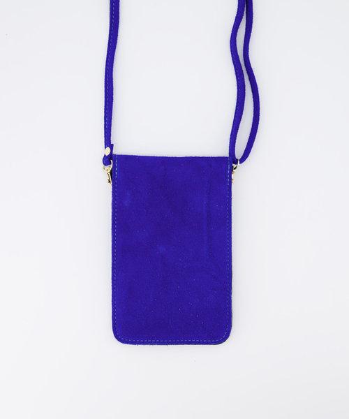 Pona - Suede - Crossbody bags - Blue - 19 - Gold