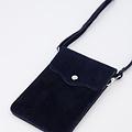 Pona - Suede - Crossbody bags - Blue - 22 - Gold