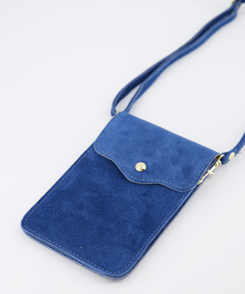 Pona - Suede - Crossbody bags - Blue - 25 - Gold