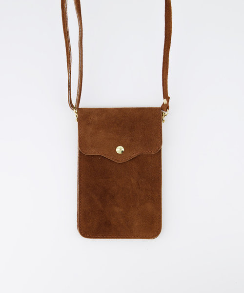 Pona - Suede - Crossbody bags - Brown - 37 - Gold