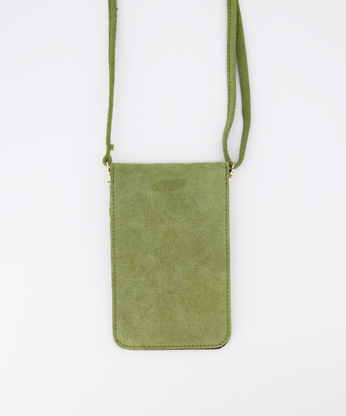 Pona - Suede - Crossbody bags - Green - 29 - Gold