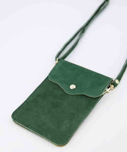 Pona - Suede - Crossbody bags - Green - 39 - Gold
