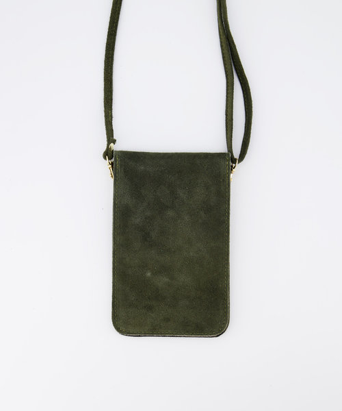 Pona - Suede - Crossbody bags - Green - 49 - Gold