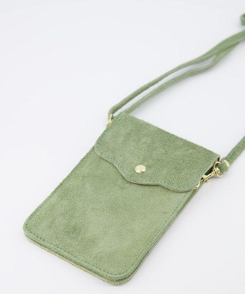 Nieuw Pona - Suede - Crossbody bags - Green - 53 - Gold