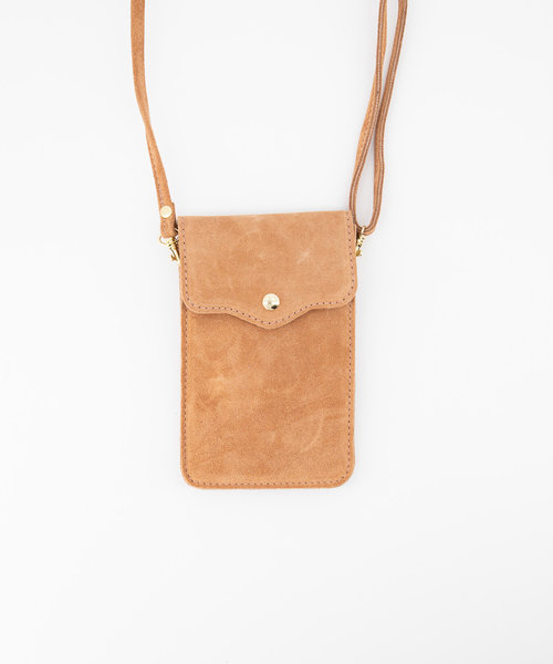 Pona - Suede - Crossbody bags - Pink - 62 - Gold