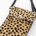 Pona - Hair - Crossbody bags - Beige - Cheetah - Gold