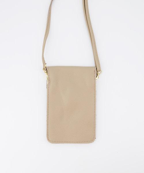 Nieuw Pona - Classic Grain - Crossbody bags - Taupe - D05 - Gold