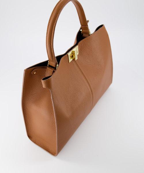 Noelle - Classic Grain - Hand bags - Brown - T01 - Gold