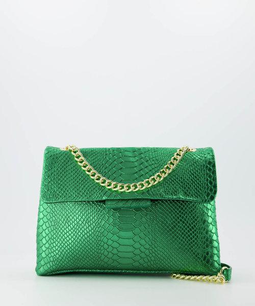 Evi - Snake - Crossbody bags - Green -  - Gold