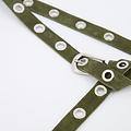 Avery - Suede - Riemen met gesp - Groen - 49 - Zilverkleurig