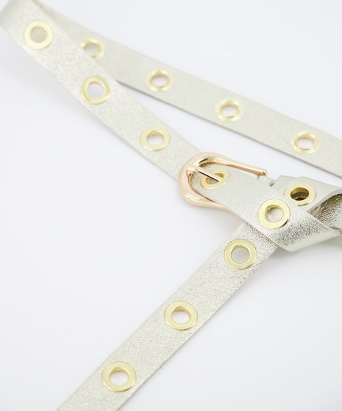 Avery - Metallic - Belts with buckles - - Goud - Gold