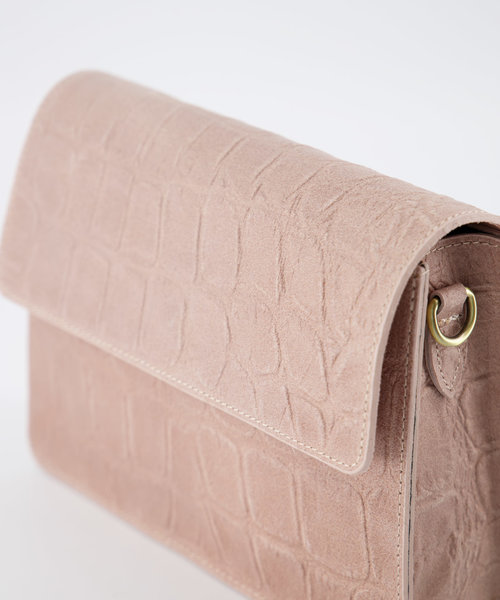 Hannah - Croco - Crossbody bags - Pink - 43 - Bronze