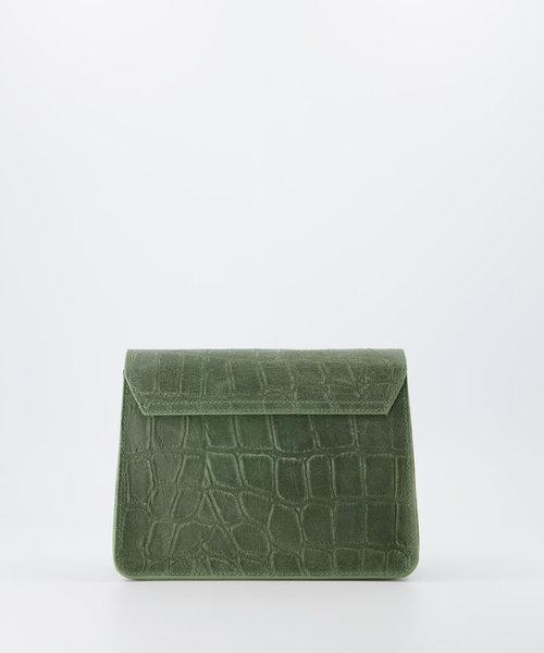 Hannah - Croco - Crossbody bags - Green - 53 - Bronze