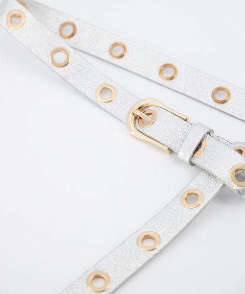 Avery - Metallic - Belts with buckles - - Silver - Gold