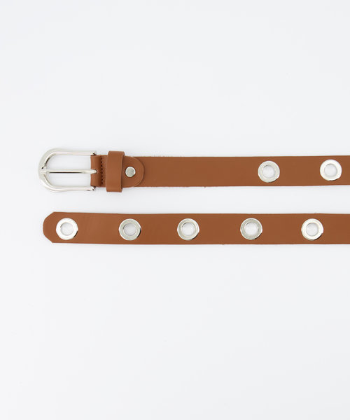 Avery - Sauvage - Belts with buckles - Brown - - Silver